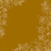 Vacker blommig inbjudningskort!!!! — Stockfoto