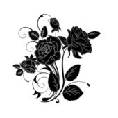 Decorative vector ornament. Vector floral ornament with elemen — Stock Photo