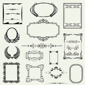 Vintage frame, ornament and element for decoration and design — Stock Photo