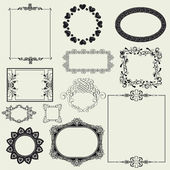 Set of decorative frame.. — Stock Photo