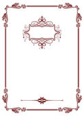 Classic vintage frame on white.. — Stock Photo