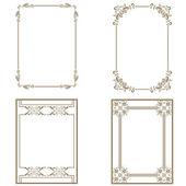 Set of decorative frame — Stock Photo