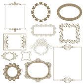 Set of decorative frame. — Stock Photo
