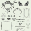 Vector set of decorative horizontal elements, border and frame. — Stock Photo #26496561