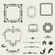 Vector set of decorative horizontal elements, border and frame  — Stock Photo #26496635