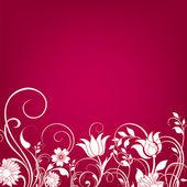Floral grußkarte, abstrakt, hintergrund — Stockfoto