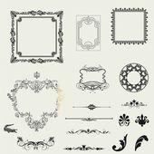Vecteur série de horizontale des éléments décoratifs, bordure et trame — Photo