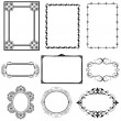 Royalty-Free Stock Photo: Set of vintage frames and design elements - vector illustration