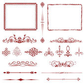 Calligraphic design elements and page decoration!! — Stock Photo