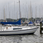 Puerto de Kiel y los yates al atardecer — Foto de Stock