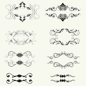Vector set of decorative horizontal floral elements! — Stock Photo