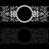 Patterns on a black background! — Stock Photo