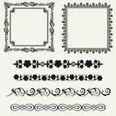 Vector set of decorative horizontal floral elements!! — Stock Photo