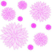 Decorative floral background with flowers.. — Stock Photo