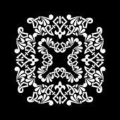 Siyah bir arka plan üzerinde vektör çiçek desenleri — Stok fotoğraf
