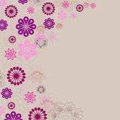 时尚花卉背景 — 图库照片