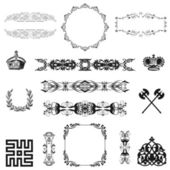Illustration of set of vintage design elements! — Stock Photo