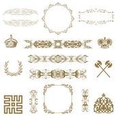Illustratie van reeks van vintage designelementen!! — Stockfoto