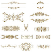 Illustration of set of vintage design elements. — Stock Photo