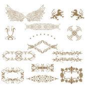 Illustration of set of vintage design elements!!!! — Stock Photo