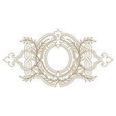 Elegant gold frame banner.. — Stock Photo