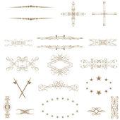 Vector establece elementos caligráficos del diseño y la decoración de la página.. — Foto de Stock