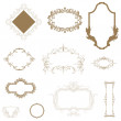 Set of vintage frames and design elements — Stock Photo