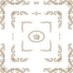 Vector set of decorative horizontal floral elements, corners, — Stock Photo #29444075