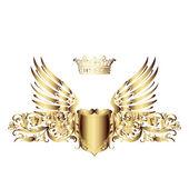 Eleganta royal ram med krona isolerad på vit bakgrund.. — Stockfoto