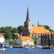 Scenic summer view of color buildings of Nyhavn in Denmark — Stock Photo #29516425