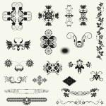 Vector set of decorative floral elements. — Stock Photo