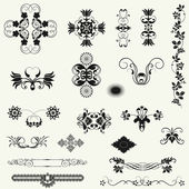 Vector set of decorative floral elements. — Stock Photo