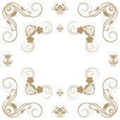 Vector set of decorative horizontal floral elements... — Stock Photo