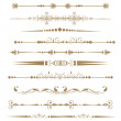 Stock Photo: Collection of Ornamental Rule Lines in Different Design styles.