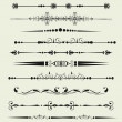 Collection of Ornamental Rule Lines in Different Design styles — Stock Photo #29959807