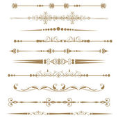 Collection of Ornamental Rule Lines in Different Design styles. — Stock Photo