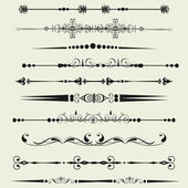 Collection of Ornamental Rule Lines in Different Design styles — Stock Photo