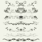 kolekce okrasných linek v různých stylů — Stock fotografie