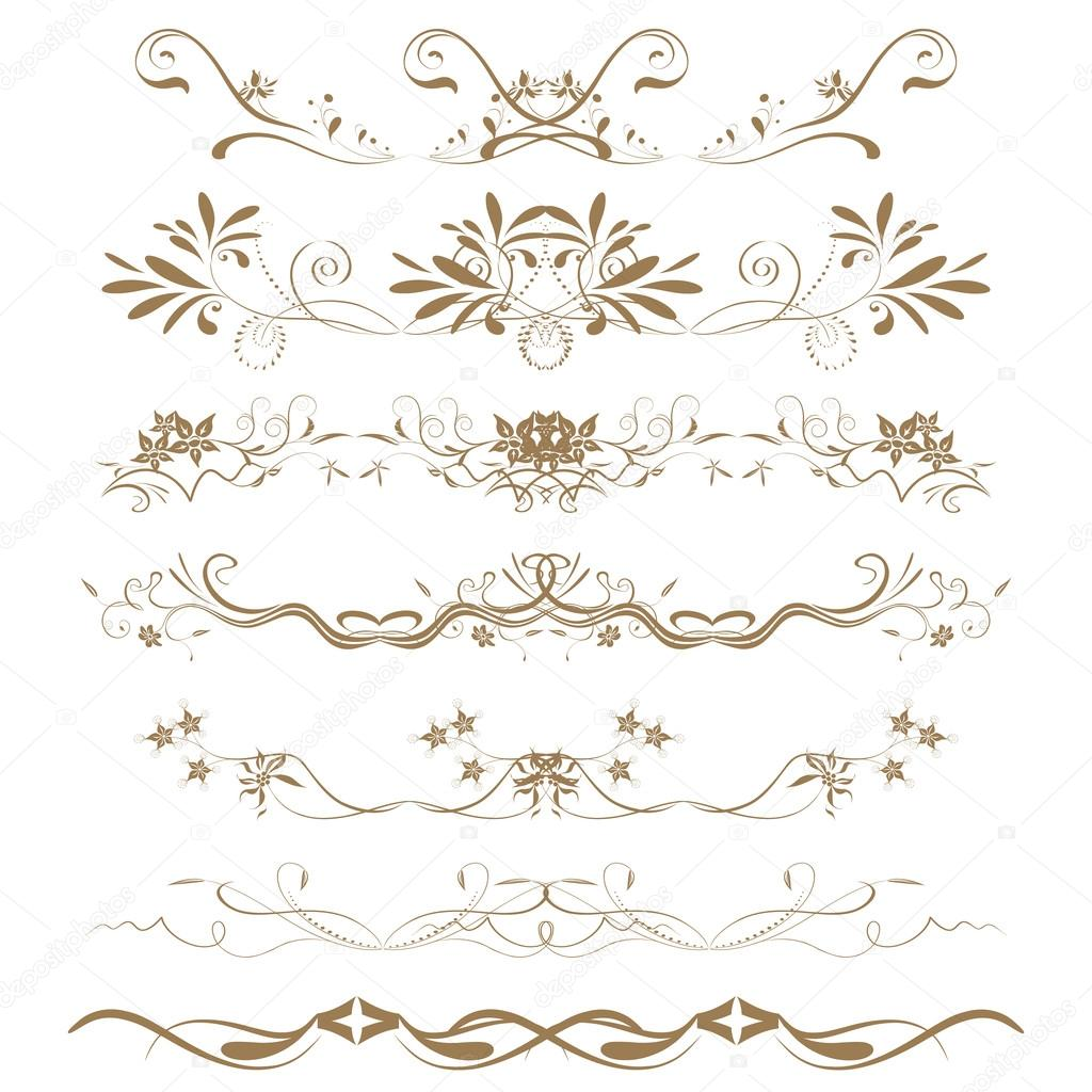 Collection of ornamental rule lines in different design for Different design styles