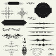 Vector set calligraphic design elements and page decoration.. — Stock Photo