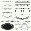 Vector set calligraphic design elements and page decoration — Stock Photo