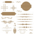 Vector set calligraphic design elements and page decoration... — Stock Photo