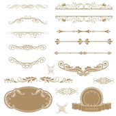 Vector set calligraphic design elements and page decoration. — Stock Photo