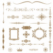 Vintage ornaments and dividers, calligraphic design elements... — Stock Photo #30904981