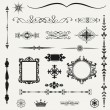 Stock Photo: Vintage ornaments and dividers, calligraphic design elements..