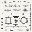 Vintage ornaments and dividers, calligraphic design elements.. — Stock Photo #30904993