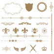 Vintage ornaments and dividers, calligraphic design elements. — Stock Photo