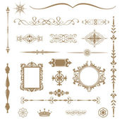 Vintage ornaments and dividers, calligraphic design elements... — Stock Photo
