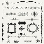 Vintage ornaments and dividers, calligraphic design elements.. — Stock Photo