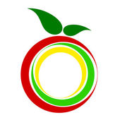 Apple icon, ecology and bio food concept. — Stock Photo